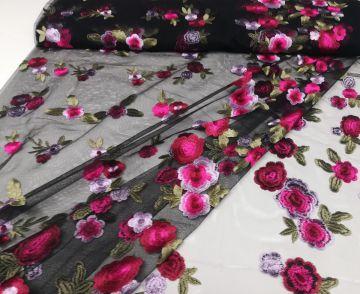 Stretch Spitzenstoff Summerflower weiß Spitzen weiß Spitze weiß elastisch