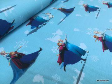 Jersey Eiskönigin, Frozen 1. 96% Baumwolle, 4% Elastan. 150cm breit.