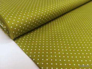 Baumwolle Webware kleine Punkte grün. 100% Baumwolle, 150cm breit.