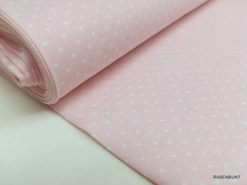 Baumwolle kleine Punkte rosa