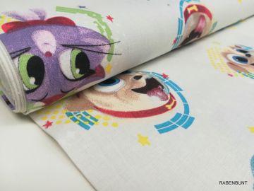 Baumwolle Lizenzstoff Disney Welpen Freunde. 150cm breit.