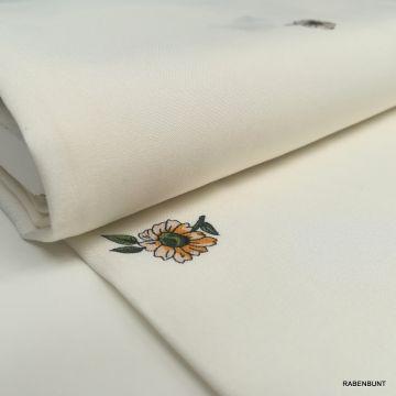 Viskose Flora cremeweiß