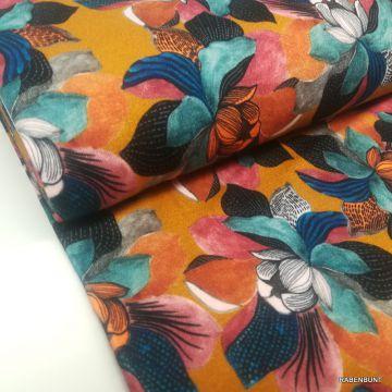 Viskosejersey Magnolie Color senf