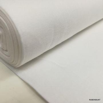 Baumwolle uni weiß