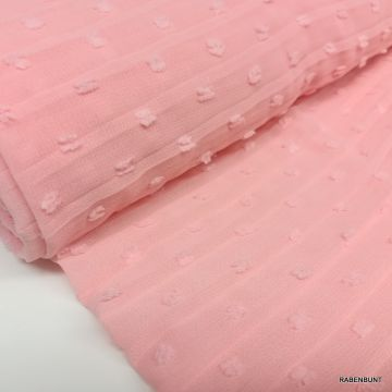Plissee Tupfen rosa Plissee Stoff rosa Plissee Stoffe Modestoffe