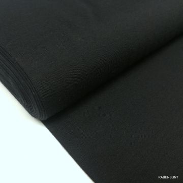 Baumwolljersey uni schwarz