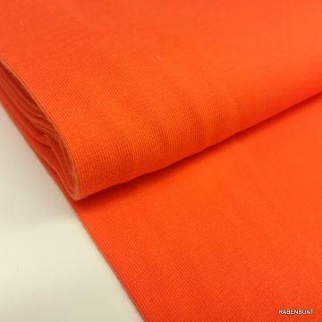 Baumwolljersey uni orange