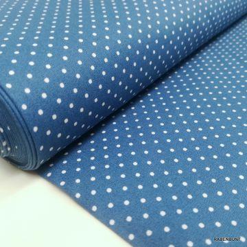 Baumwolle kleine Punkte blau