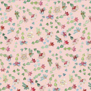 Baumwolljersey Summer Time mint, Eigenproduktion, Blumengold, Summer Time, Baumwolljersey, Jersey Blumen, Blumen, Rabenbunt, Designerstoffe,