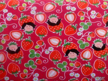 Baumwolljersey Strawberry . 95% Baumwolle 5% Elastan, 150cm breit.