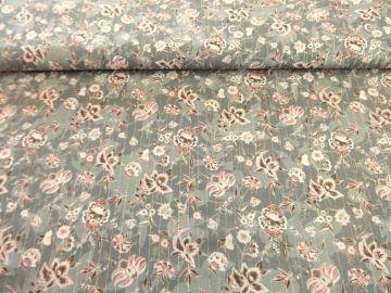 Luccica ein wunderschöner Viskose-Blusenstoff. Sehr weich,leicht zu verarbeiten.Ideal für Blusen, Sommerkleider,Röcke, Schals. Nicht elastisch! 99% Viskose, 1% Metalgarn, 135cm breit.