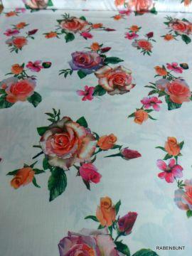 Chiffon Rosen naturweiß