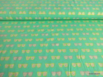 Baumwolljersey Sommerzeit mit Glitzer, 95% Baumwolle, 5% Elastan, 150cm breit.