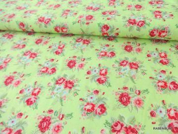 Baumwolle Emilie, Landhausstil zum patchworken, quilten und nähen.