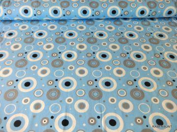 Baumwolljersey Bubble blau, 95% Baumwolle, 5% Elastan. Für Kleider, Röcke, Blusen bestens geeignet.