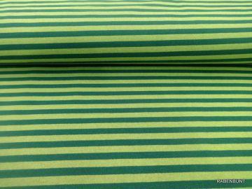 Sweat  Snow-Shirt  grün gestreift, 180cm breit! 55% Polyester, 45% Baumwolle.