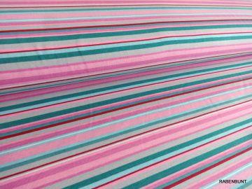 Baumwolljersey Streifen blau