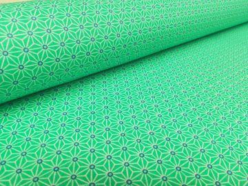 Baumwollstoff Polyacryl beschichtet grün