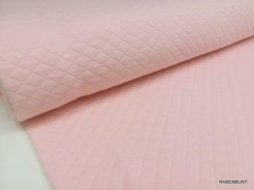 Steppstoff waffle check rosa