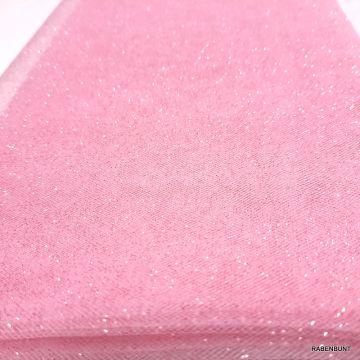 Tüll mit Glitzer rosa