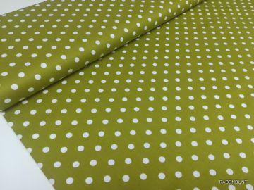 Baumwolle Webware große Punkte grün. 100% Baumwolle, 150cm breit.