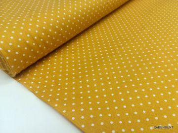 Baumwolle kleine Punkte senfgelb