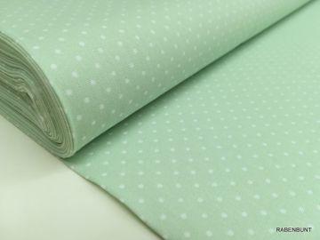 Baumwolle kleine Punkte mintgrün