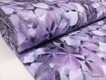 Sweat Hortensie lila/grün
