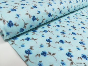Baumwolle Webware  Ella blau