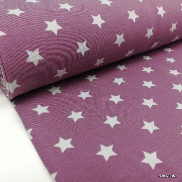 Baumwolljersey Sterne lila