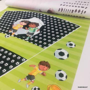 Schultüte Soccer grün French Terry Panel