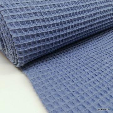 Waffel Pique blau-lila