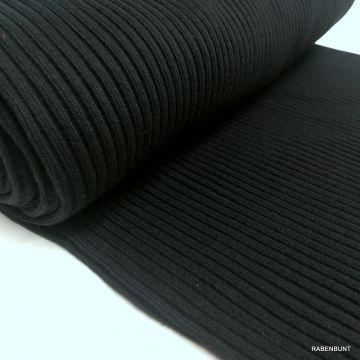 Bündchen Schlauch Heavy Rib schwarz