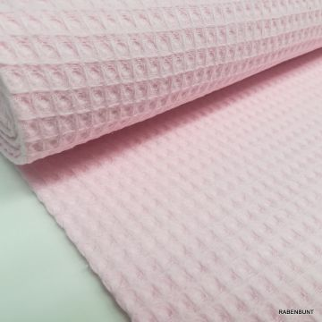 Waffel Pique rosa pastell