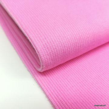 Bündchestoff rosa, Bündchen, Bündchen rosa, Bündchen Schlauch, Bündchenschlauch rosa, Hilco Bündchen,