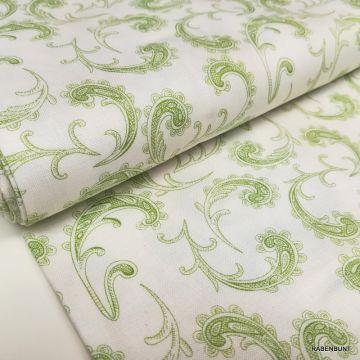 Baumwolle Elizabeth  Paisley grün