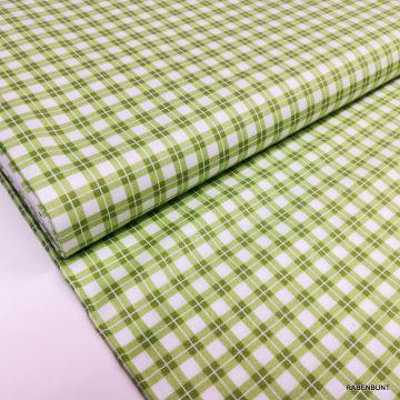 Baumwolle Elizabeth Karo grün, Baumwolle Karo, US Designer Stoffe, Patchworkstoff grün, Quiltstoff grün, Bastelstoff grün, Rabenbunt, Karo,