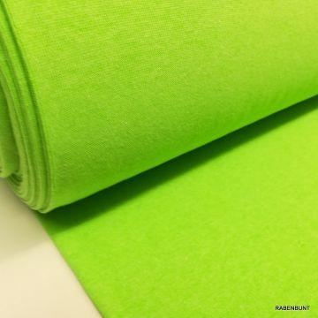 Bündchen neongrün, bündchen 35cm, bündchen, bündchen schlauch, bündchen stoff, rabenbunt, bündchen neonfarbe,