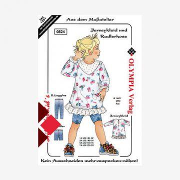 Jerseykleid und Radlerhose Größe 98-104