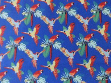Baumwolle Tropic Papagao, Webware für Sommerliche Bekleidung für Groß und Klein.