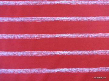 Baumwolljersey Sea Stripes Streifen rot