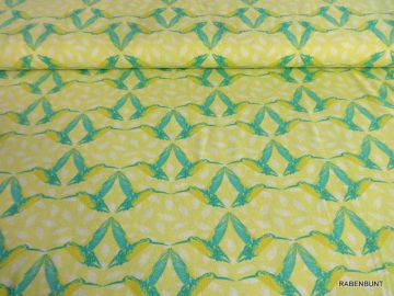 Baumwolljersey Kolibri, 95% Baumwolle, 5% Elastan, 155cm breit. Für Bekleidung bestens geeignet.