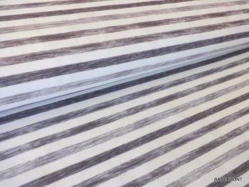 French Terry weiß/antrazit gestreift . 150cm breit, 95% Baumwolle, 5% Elastan. Für Hoodys, Kleidchen, Mützen oder Schals bestens geeignet. Hilco Qualität Ökotex 100
