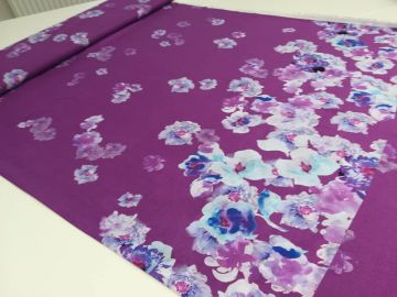 Viskose Webware Aquarell lila